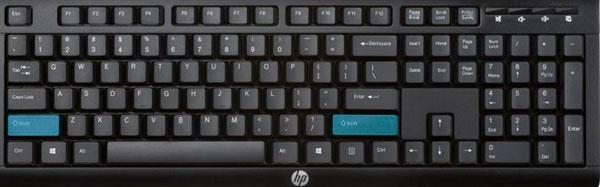 teclado con tecla shift
